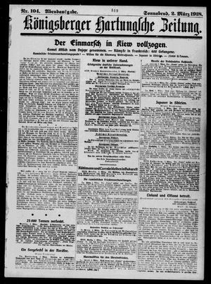 Königsberger Hartungsche Zeitung vom 02.03.1918