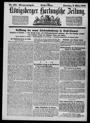 Königsberger Hartungsche Zeitung vom 03.03.1918