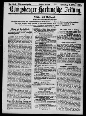 Königsberger Hartungsche Zeitung vom 04.03.1918
