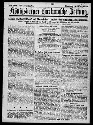 Königsberger Hartungsche Zeitung vom 05.03.1918