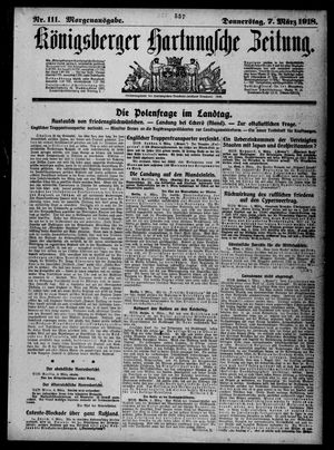 Königsberger Hartungsche Zeitung vom 07.03.1918