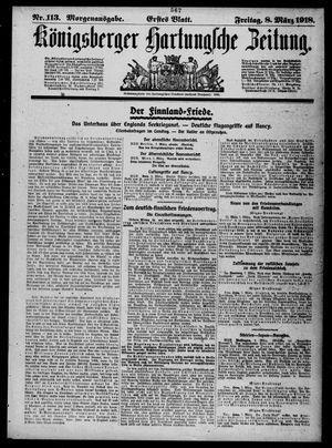 Königsberger Hartungsche Zeitung vom 08.03.1918
