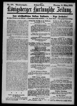 Königsberger Hartungsche Zeitung vom 11.03.1918