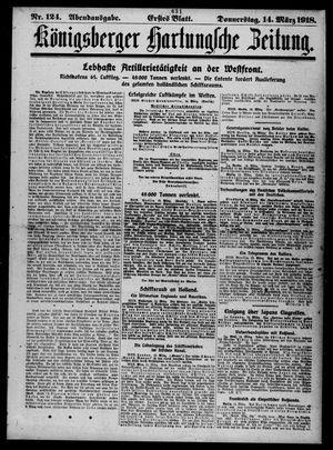 Königsberger Hartungsche Zeitung vom 14.03.1918