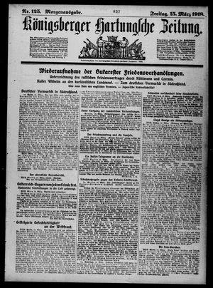 Königsberger Hartungsche Zeitung vom 15.03.1918