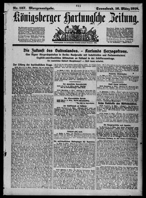 Königsberger Hartungsche Zeitung vom 16.03.1918