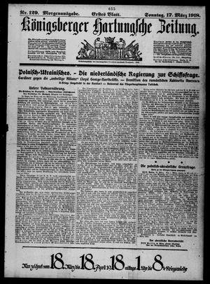 Königsberger Hartungsche Zeitung vom 17.03.1918