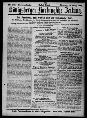 Königsberger Hartungsche Zeitung on Mar 18, 1918