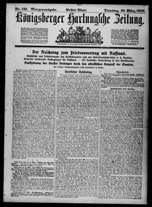 Königsberger Hartungsche Zeitung vom 19.03.1918