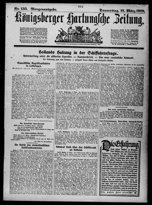 Königsberger Hartungsche Zeitung vom 21.03.1918