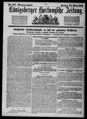 Königsberger Hartungsche Zeitung on Mar 22, 1918