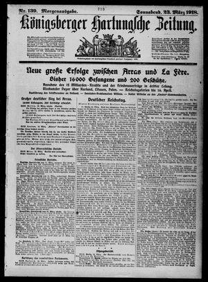 Königsberger Hartungsche Zeitung vom 23.03.1918