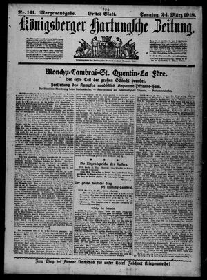 Königsberger Hartungsche Zeitung on Mar 24, 1918