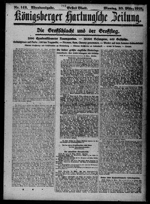 Königsberger Hartungsche Zeitung vom 25.03.1918