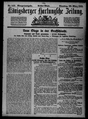 Königsberger Hartungsche Zeitung vom 26.03.1918
