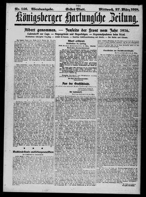Königsberger Hartungsche Zeitung vom 27.03.1918