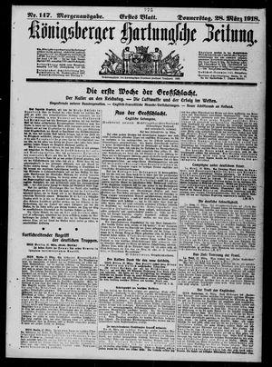 Königsberger Hartungsche Zeitung vom 28.03.1918
