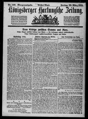 Königsberger Hartungsche Zeitung vom 29.03.1918