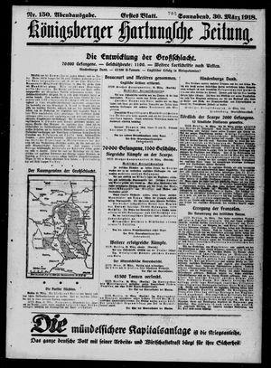 Königsberger Hartungsche Zeitung vom 30.03.1918