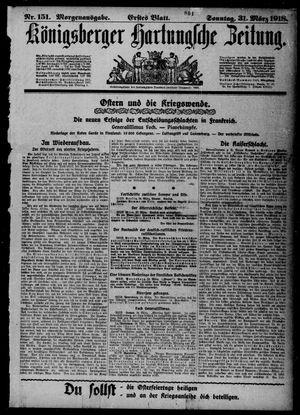 Königsberger Hartungsche Zeitung vom 31.03.1918
