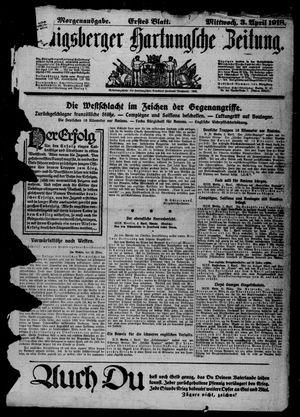 Königsberger Hartungsche Zeitung on Apr 3, 1918