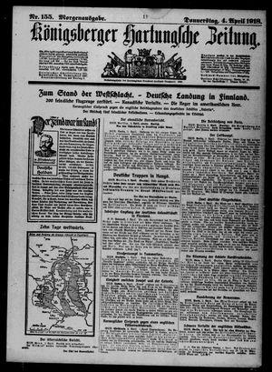 Königsberger Hartungsche Zeitung vom 04.04.1918