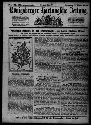 Königsberger Hartungsche Zeitung vom 07.04.1918