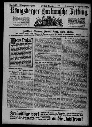 Königsberger Hartungsche Zeitung vom 09.04.1918