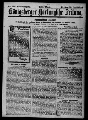 Königsberger Hartungsche Zeitung vom 12.04.1918
