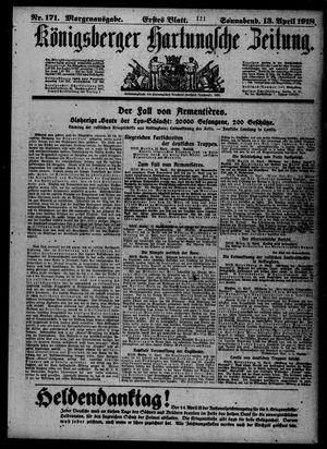 Königsberger Hartungsche Zeitung vom 13.04.1918