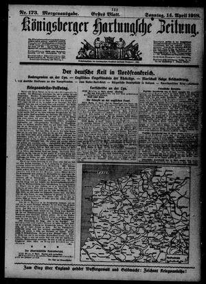 Königsberger Hartungsche Zeitung vom 14.04.1918