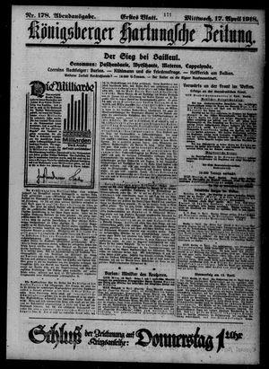 Königsberger Hartungsche Zeitung vom 17.04.1918