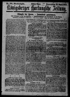 Königsberger Hartungsche Zeitung on Apr 18, 1918