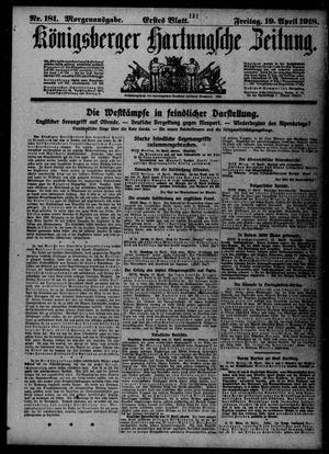 Königsberger Hartungsche Zeitung vom 19.04.1918