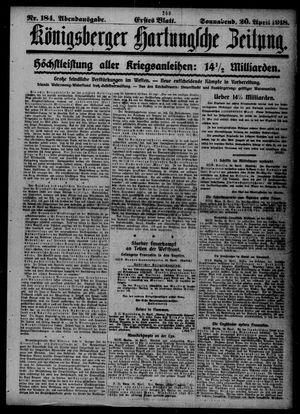Königsberger Hartungsche Zeitung vom 20.04.1918