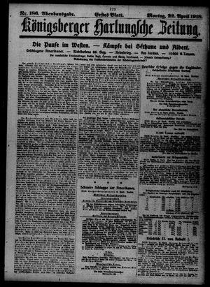 Königsberger Hartungsche Zeitung vom 22.04.1918