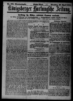 Königsberger Hartungsche Zeitung vom 23.04.1918