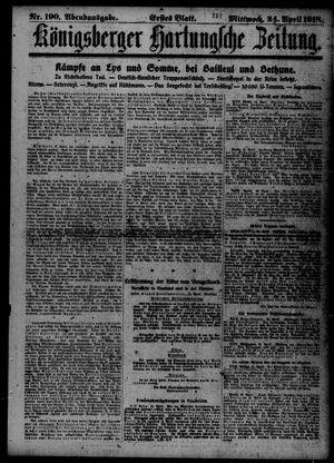 Königsberger Hartungsche Zeitung vom 24.04.1918