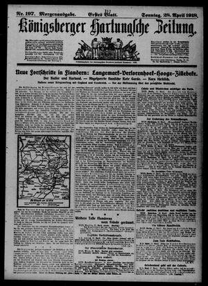 Königsberger Hartungsche Zeitung vom 28.04.1918
