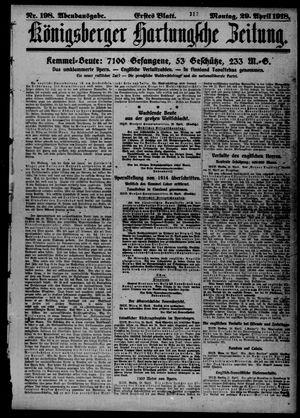 Königsberger Hartungsche Zeitung on Apr 29, 1918