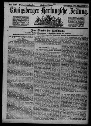 Königsberger Hartungsche Zeitung vom 30.04.1918
