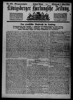 Königsberger Hartungsche Zeitung vom 01.05.1918