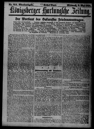 Königsberger Hartungsche Zeitung vom 08.05.1918