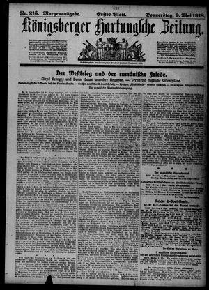 Königsberger Hartungsche Zeitung on May 9, 1918