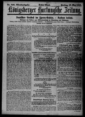 Königsberger Hartungsche Zeitung vom 10.05.1918