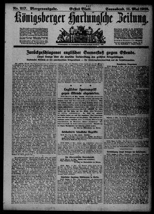 Königsberger Hartungsche Zeitung vom 11.05.1918