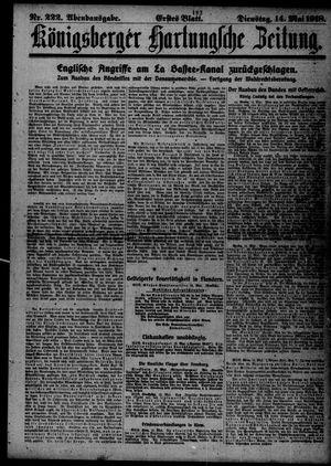 Königsberger Hartungsche Zeitung vom 14.05.1918