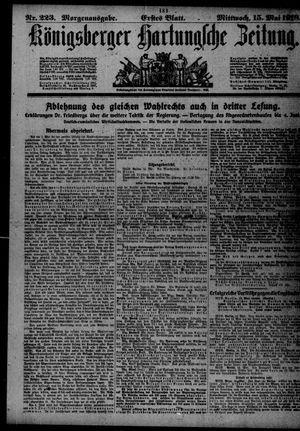 Königsberger Hartungsche Zeitung on May 15, 1918