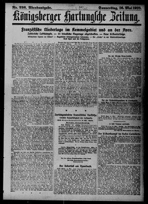 Königsberger Hartungsche Zeitung vom 16.05.1918