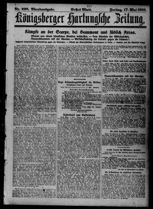 Königsberger Hartungsche Zeitung on May 17, 1918